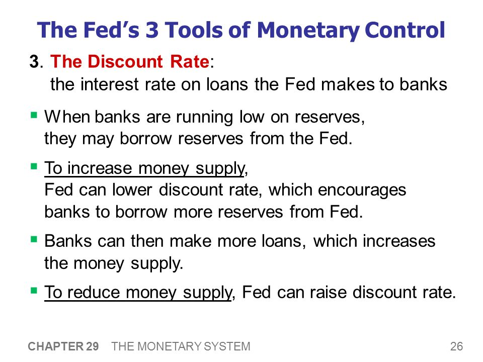 The Fed's 3 Tools of Monetary Control