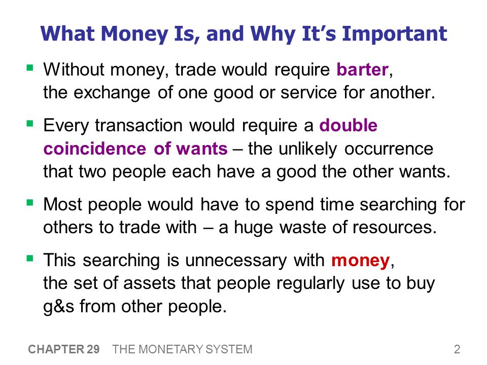 The 3 Functions of Money Medium of exchange: an item buyers give to sellers when they want to purchase g&s.
