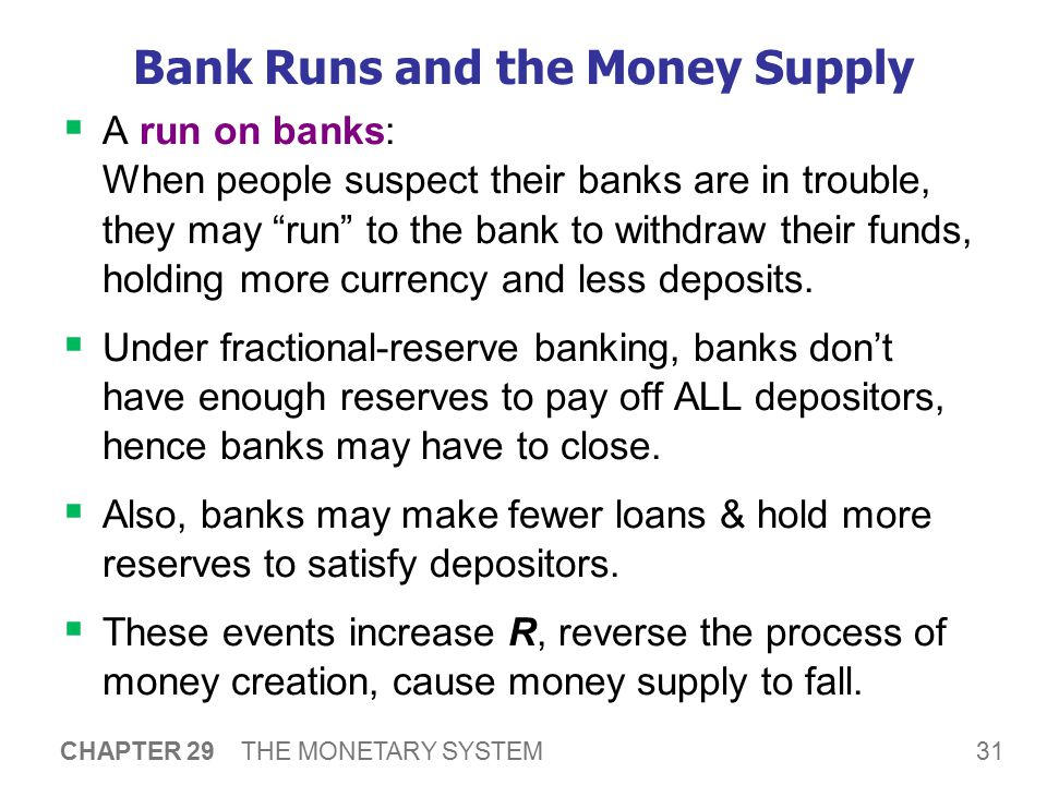 Bank Runs and the Money Supply