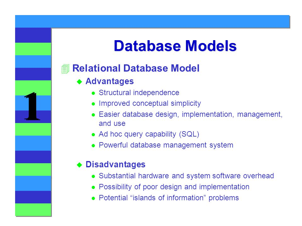 37 database models relational database model advantages disadvantages structural independence improved conceptual simplicity easier database design - Relational Database Design Software