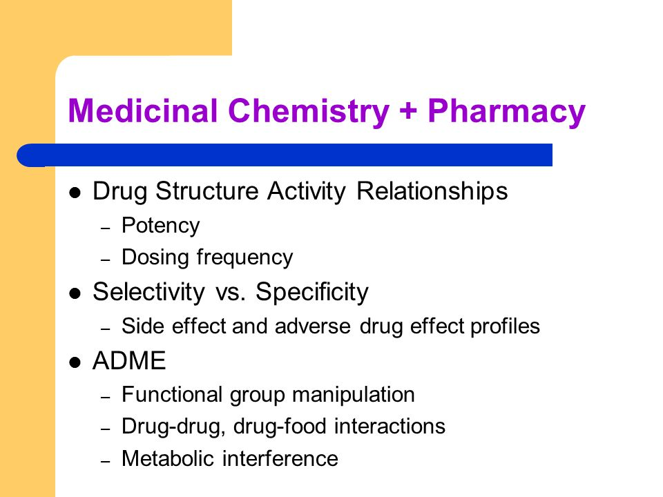 chemistry and pharmacy relationship counseling