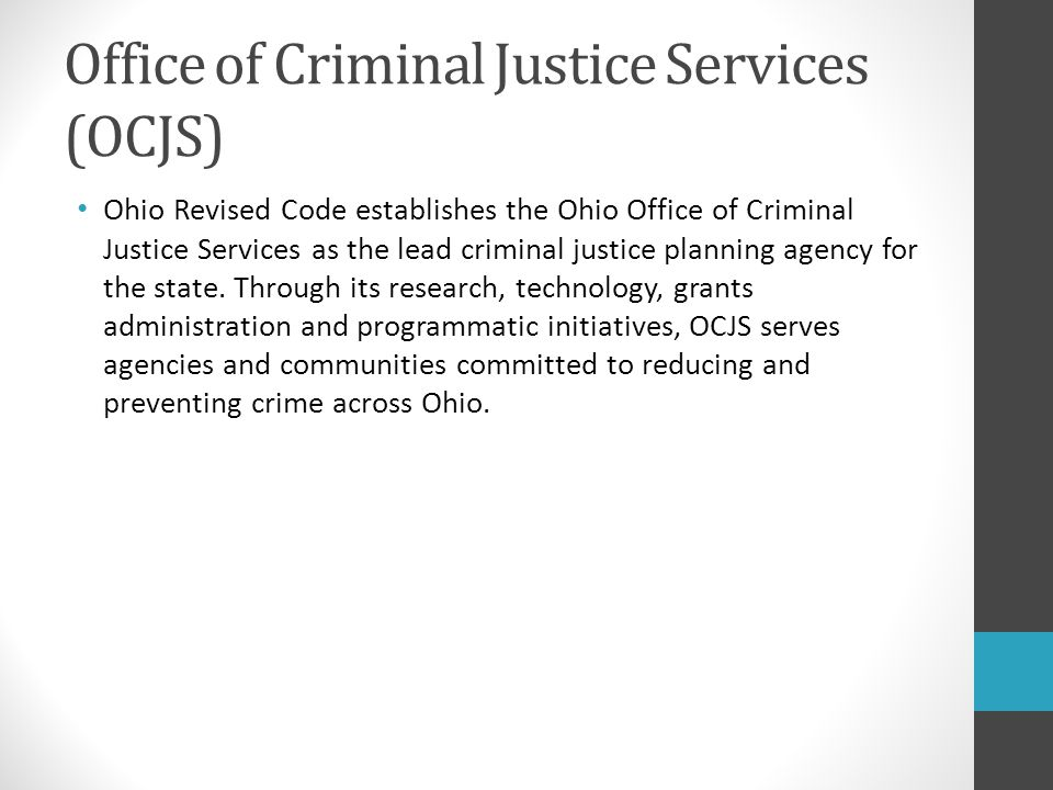 Administrative change in criminal justice
