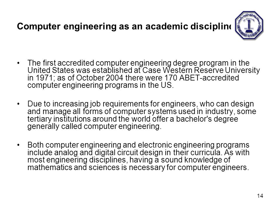 College of Computer Sciences and Engineering ppt video online – Computer Engineer Job Description