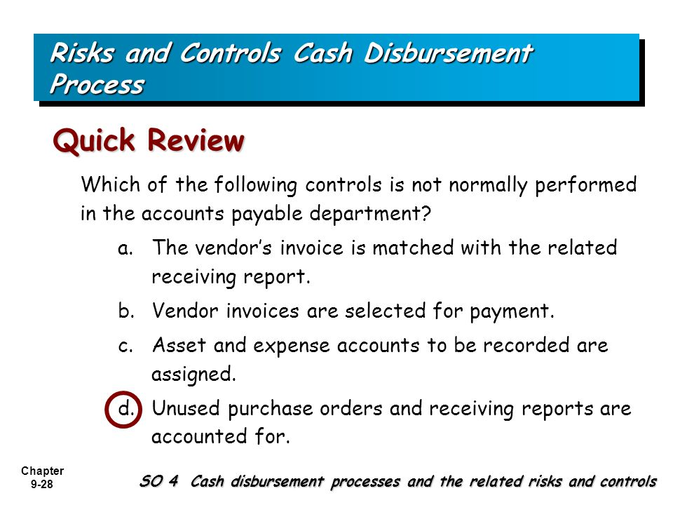 purchases expenditures processes and controls The expenditure cycle - part i  the fundamental tasks that must be performed in the purchasing and cash disbursement processes  e expenditure cycle controls.