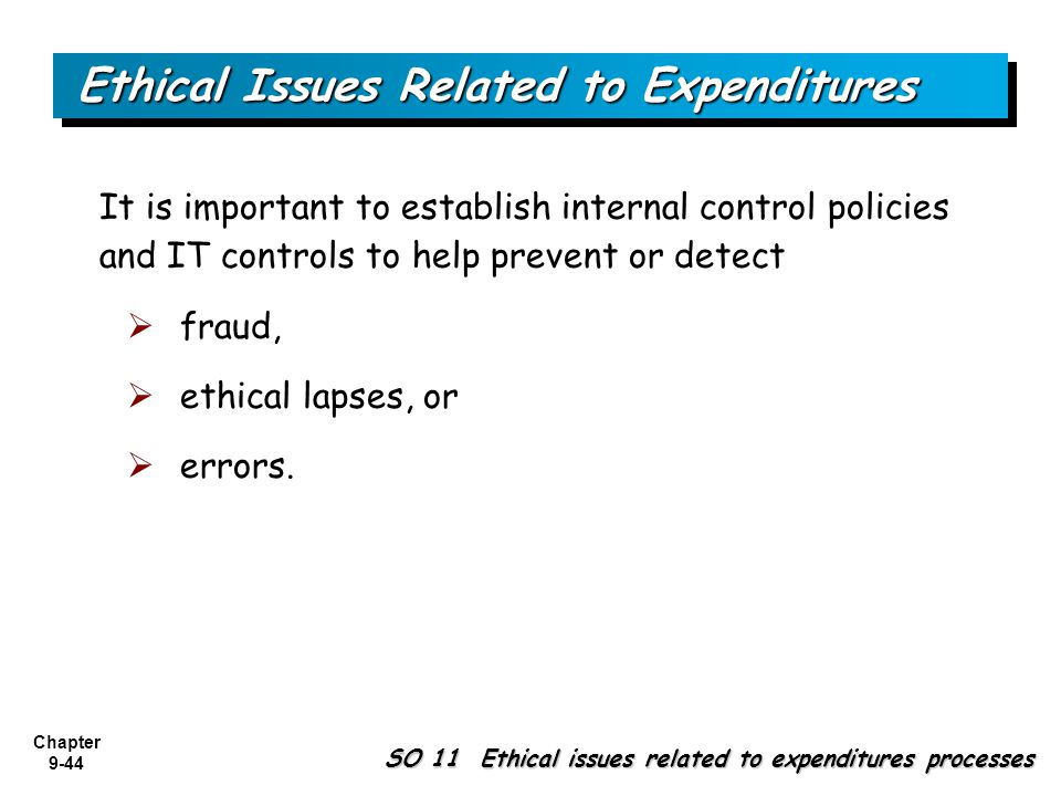 Ethical issues procurement management