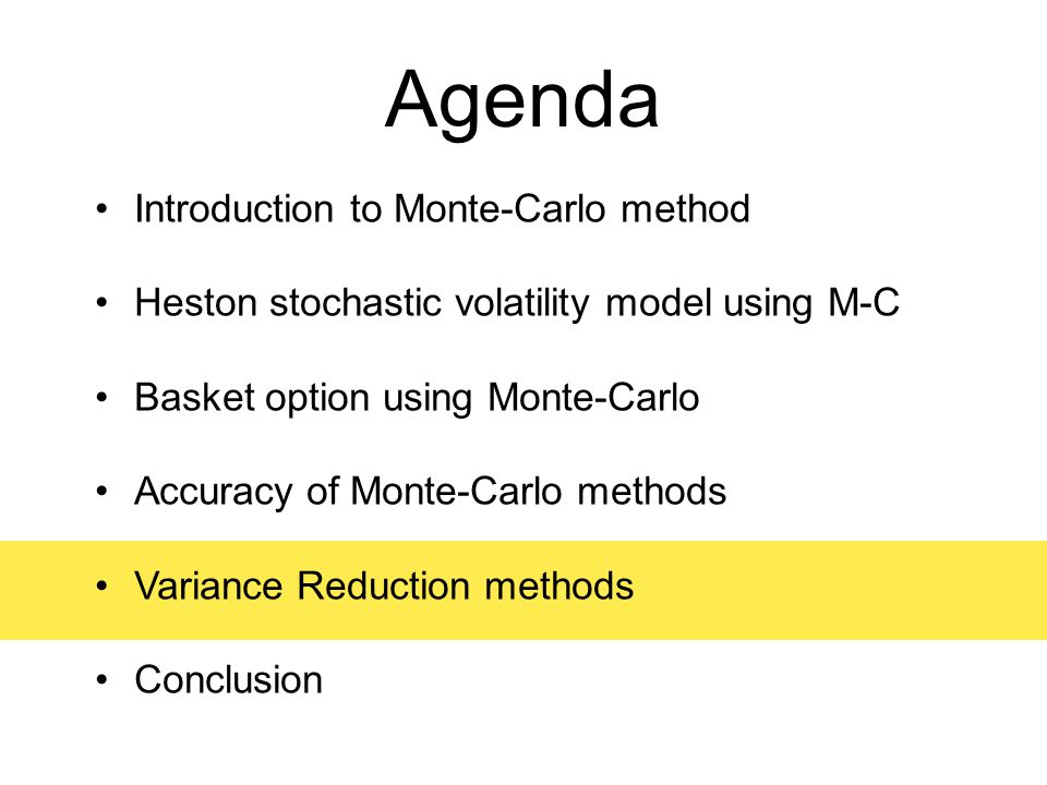 an introduction to monte carlo method of option evaluation Chapter 8 monte carlo simulation 1 chapter 8 monte carlo simulation 81 introduction monte carlo simulation is named after the city of monte carlo in monaco, which is.