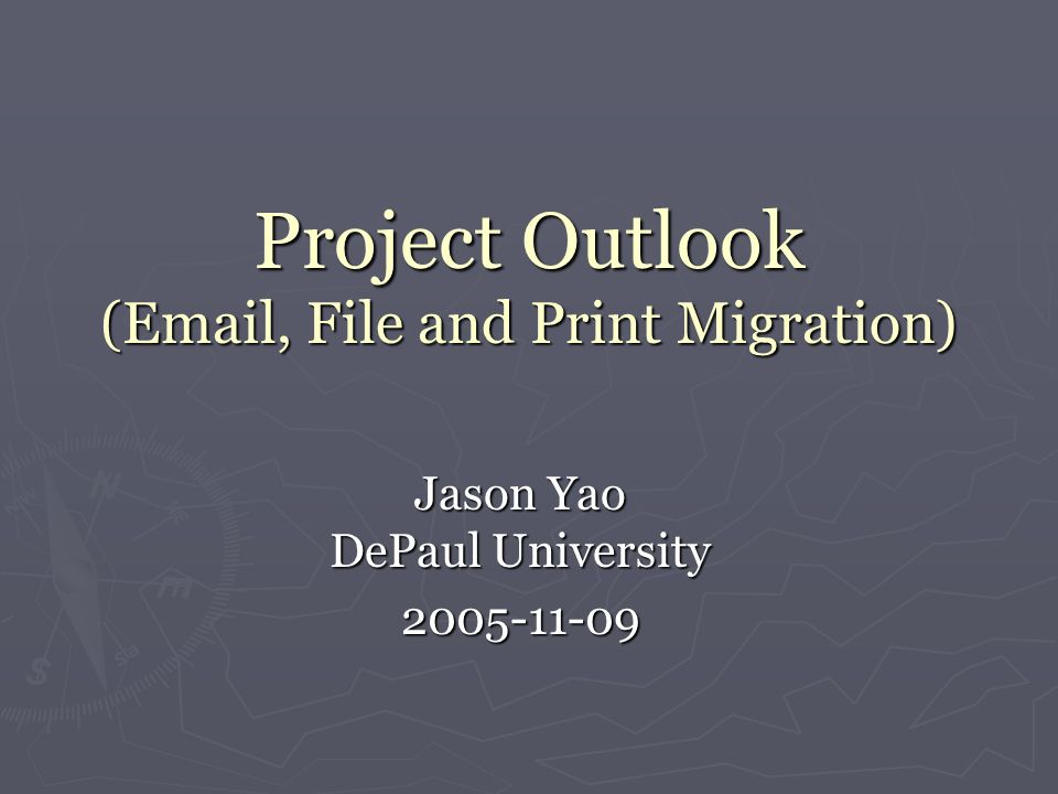 project on outlook Defining a project manager's tasks and responsibilities is not difficult a project manager has to first plan a project and provide reasonable estimates of the cost that it may involve, time it may take and quality of the end product.
