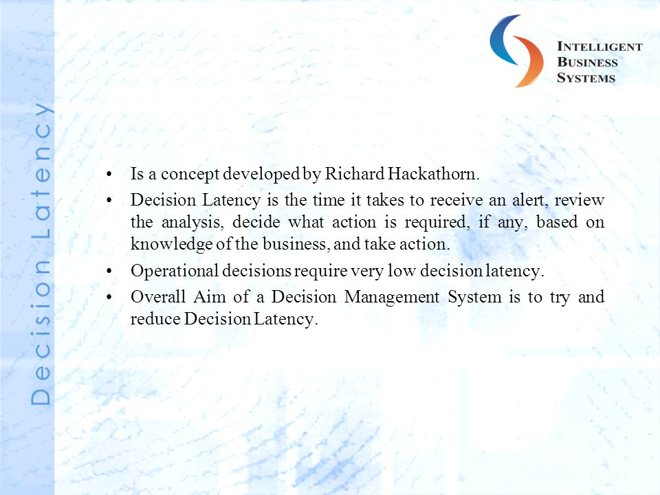 Is a concept developed by Richard Hackathorn.
