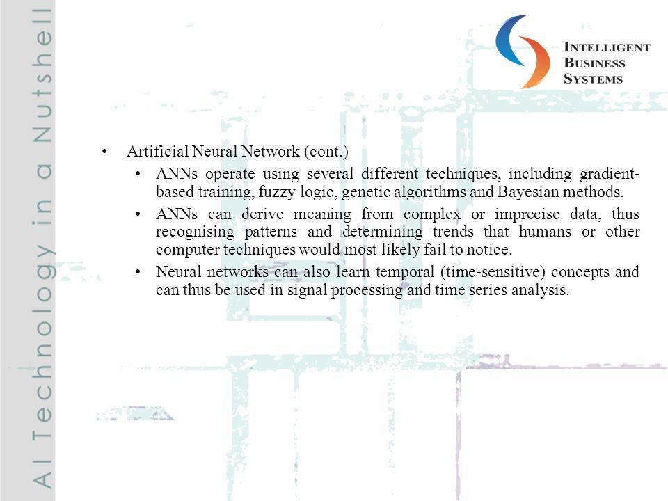 Artificial Neural Network (cont.)
