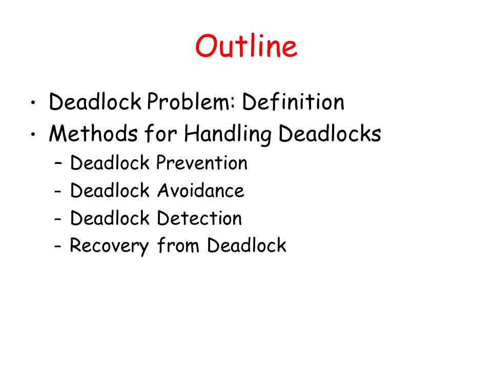 avoiding deadlocks in multi tasking systems Monitors condition variables deadlock detection and avoidance  cooperative  multitasking: polite processes execute yield system call,.