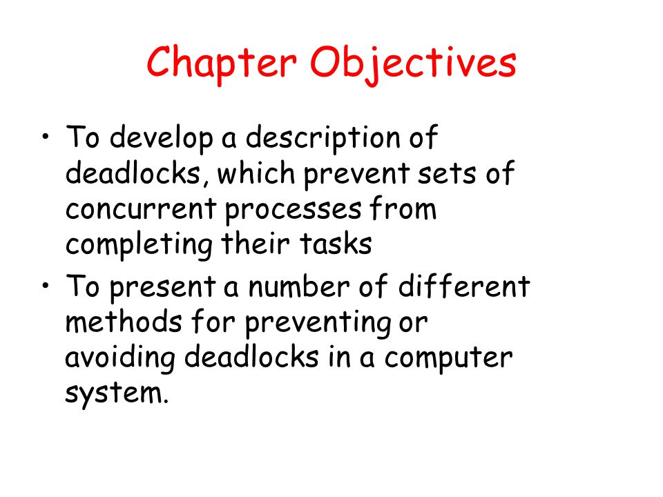 avoiding deadlocks in multi tasking systems Overall stucture of computer systems 2  support for multitasking/concurrency  ▫  deadlock avoidance/prevention algorithms are too complicate and.
