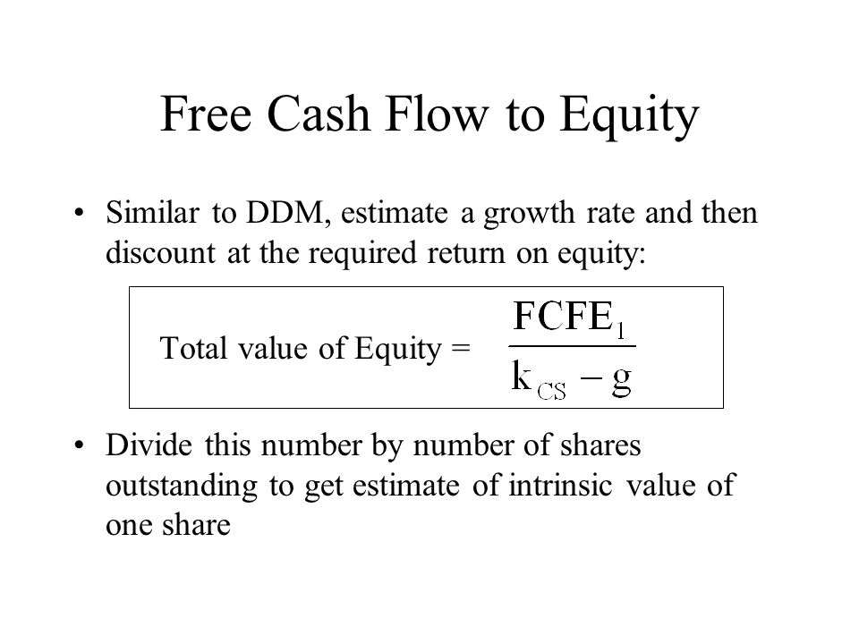 Free cashflow to equity