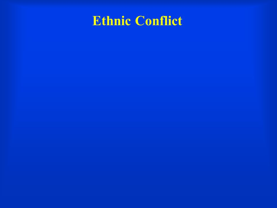 Ethnic Conflict Introduction