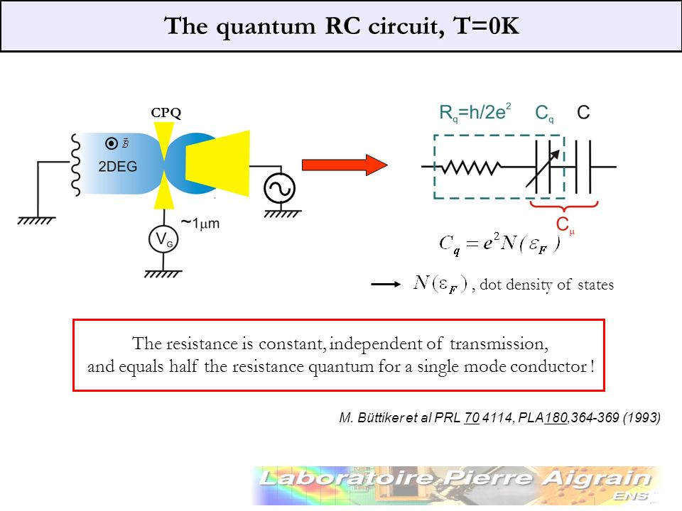 The quantum RC circuit, T=0K