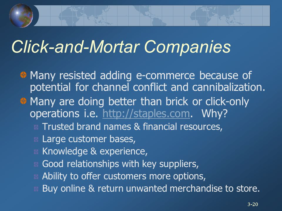 Click-and-Mortar Companies