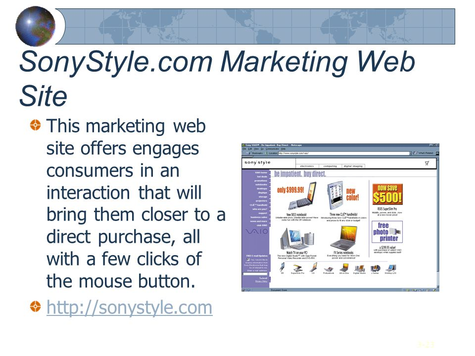 SonyStyle.com Marketing Web Site