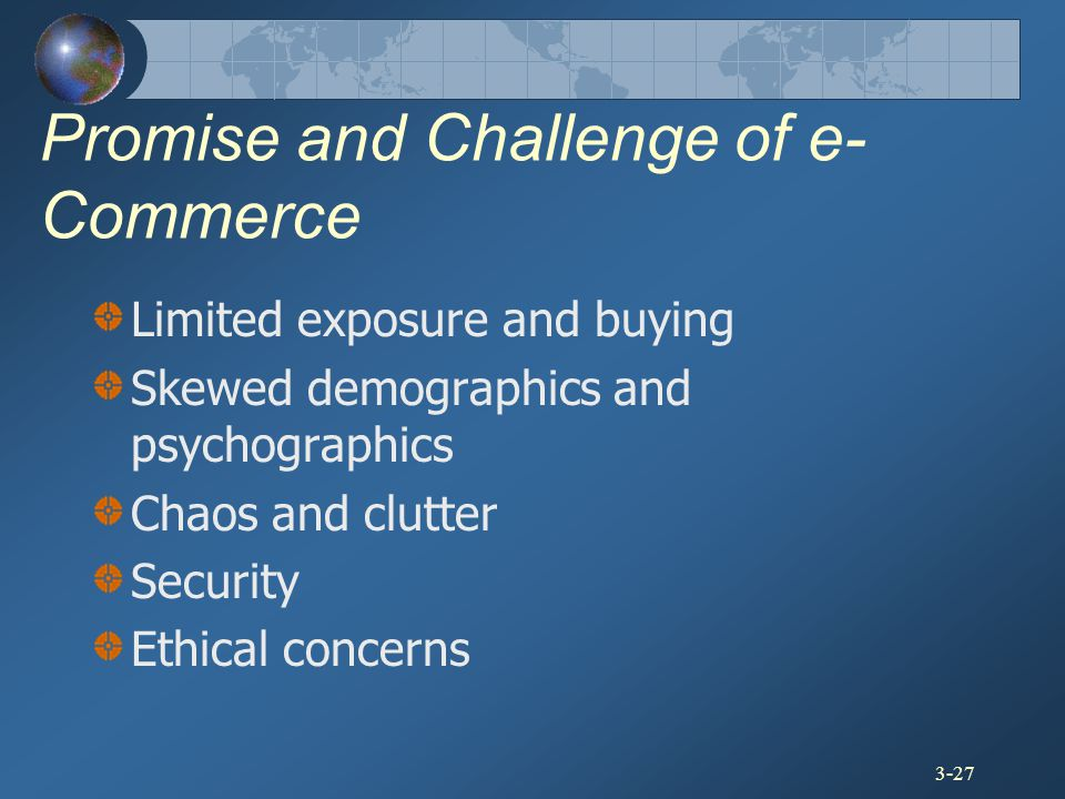 Promise and Challenge of e-Commerce