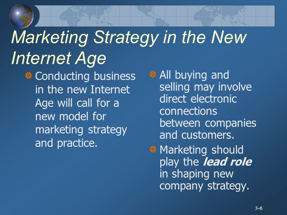 Marketing Strategy in the New Internet Age
