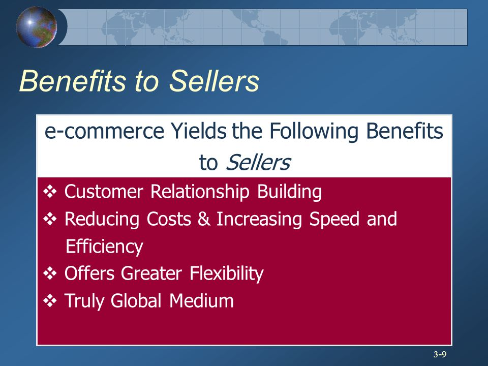 e-commerce Yields the Following Benefits