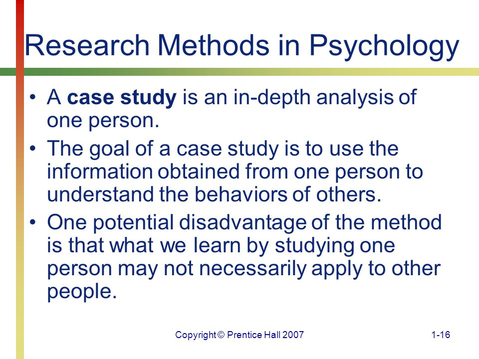 several studies of psychological cases Psychological disorders - resources psychological disorders - case studies case studies 6451 center street • mentor.