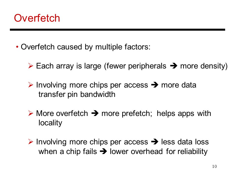 Overfetch Overfetch caused by multiple factors: