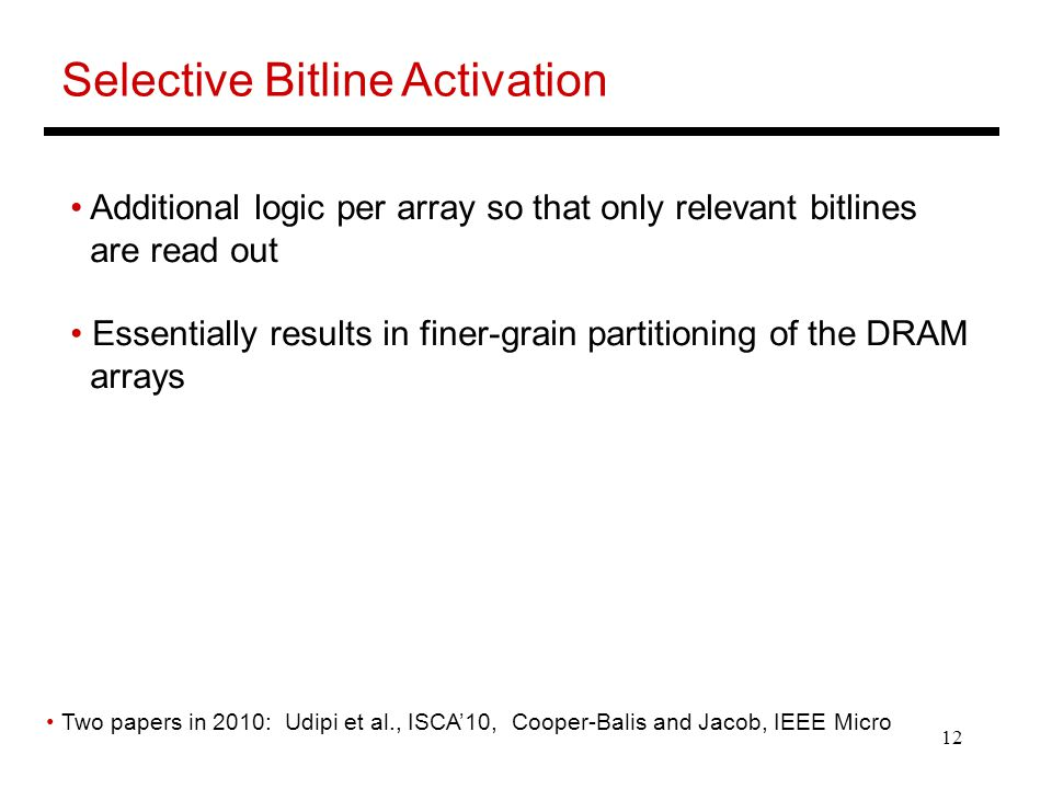 Selective Bitline Activation