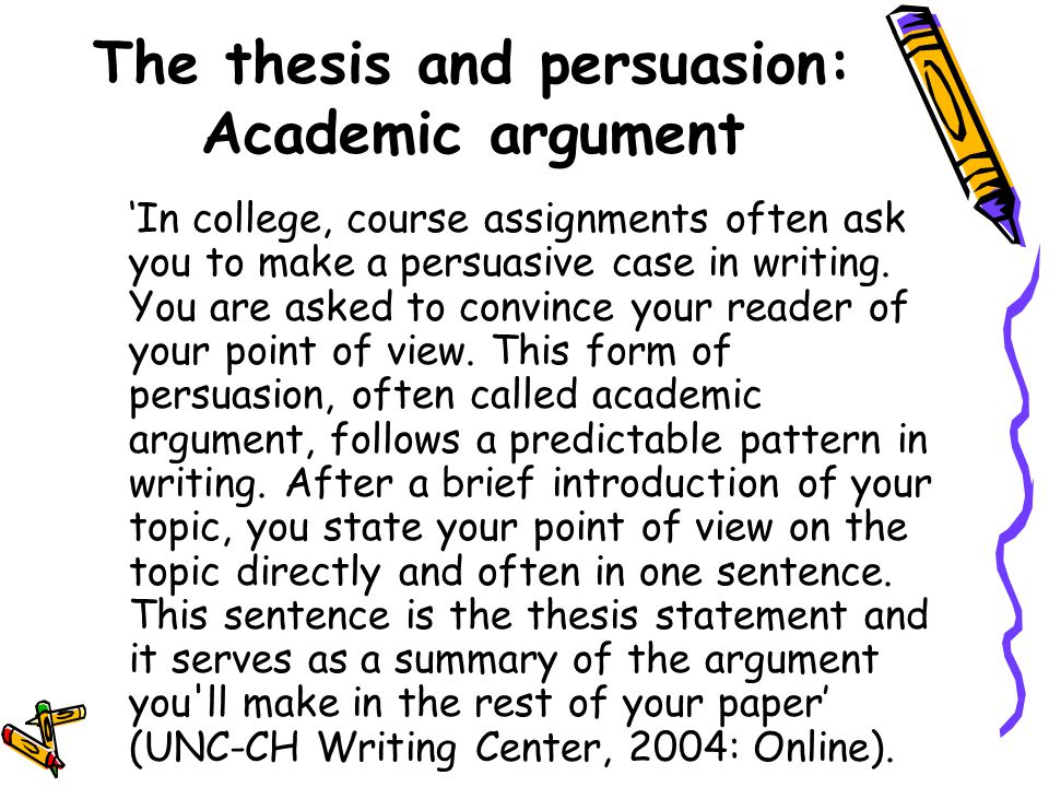 writing center unc thesis statement