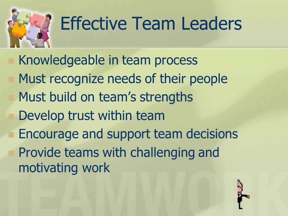 Effective Team Leaders