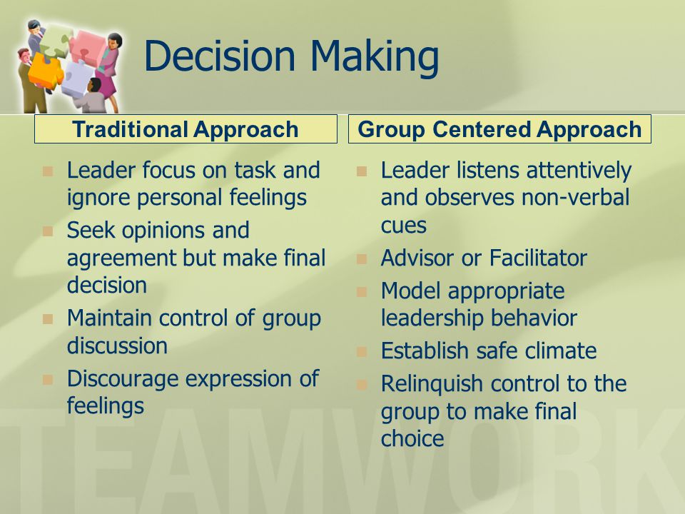 Group Centered Approach