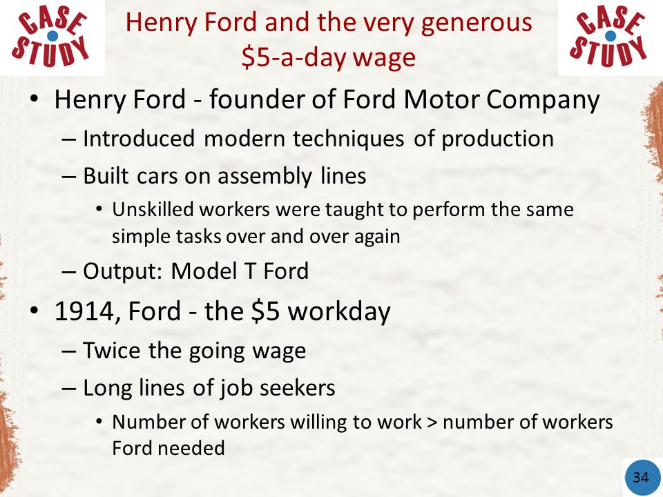Henry fords efficiency wages