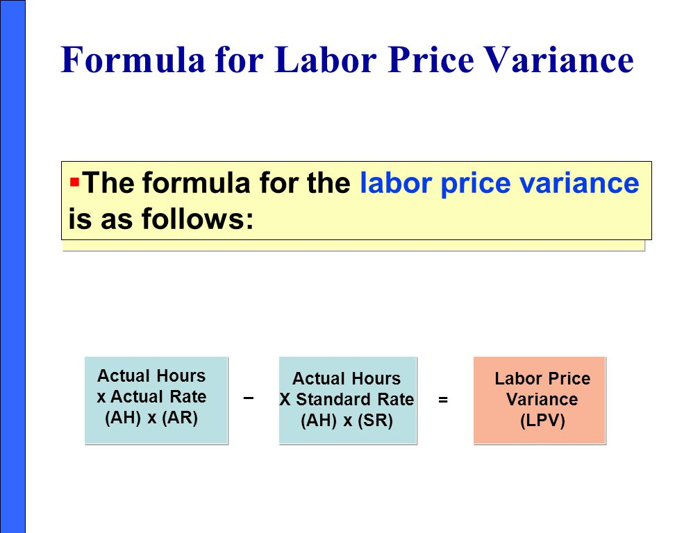 Formula for Labor Price Variance