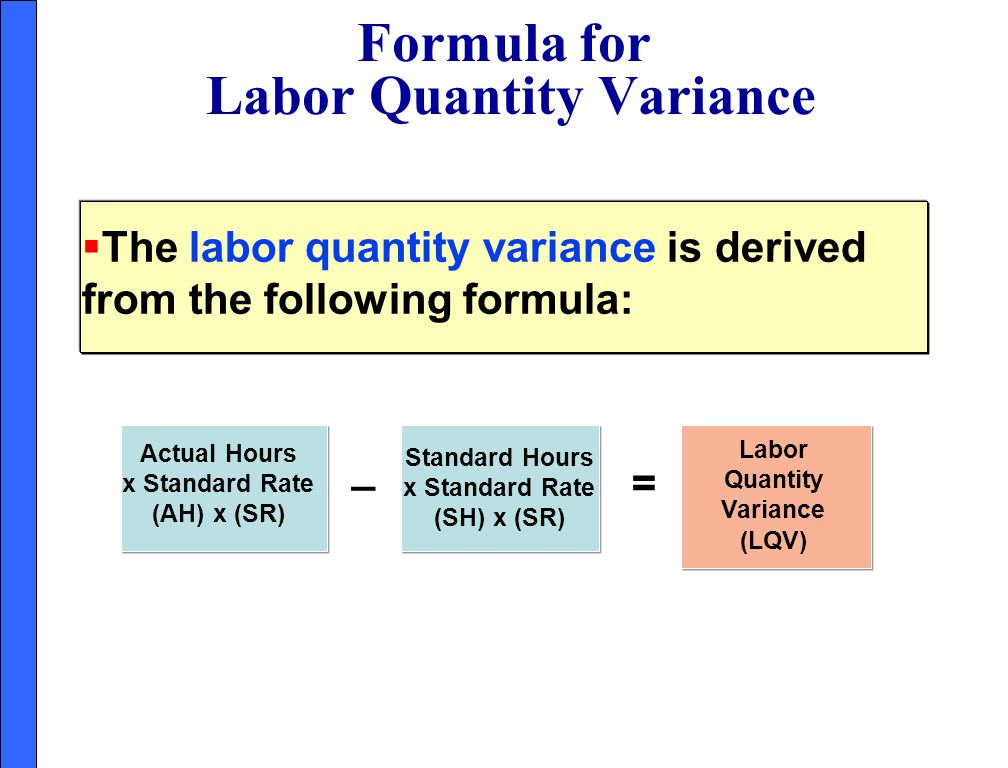 Formula for Labor Quantity Variance