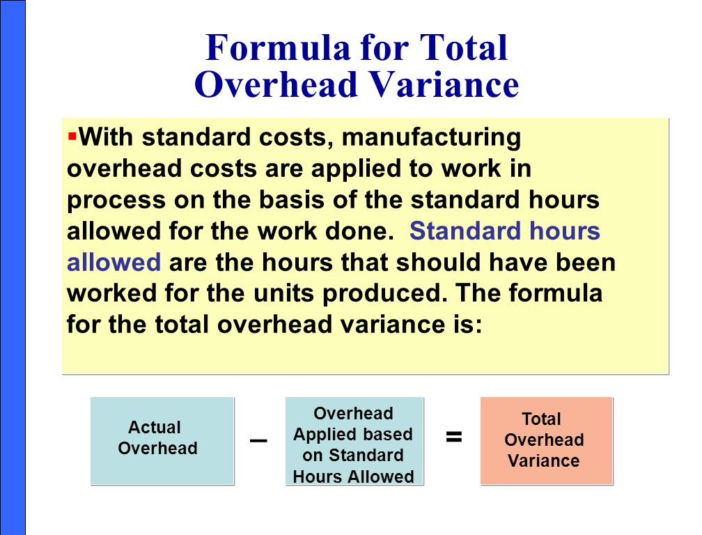 Formula for Total Overhead Variance