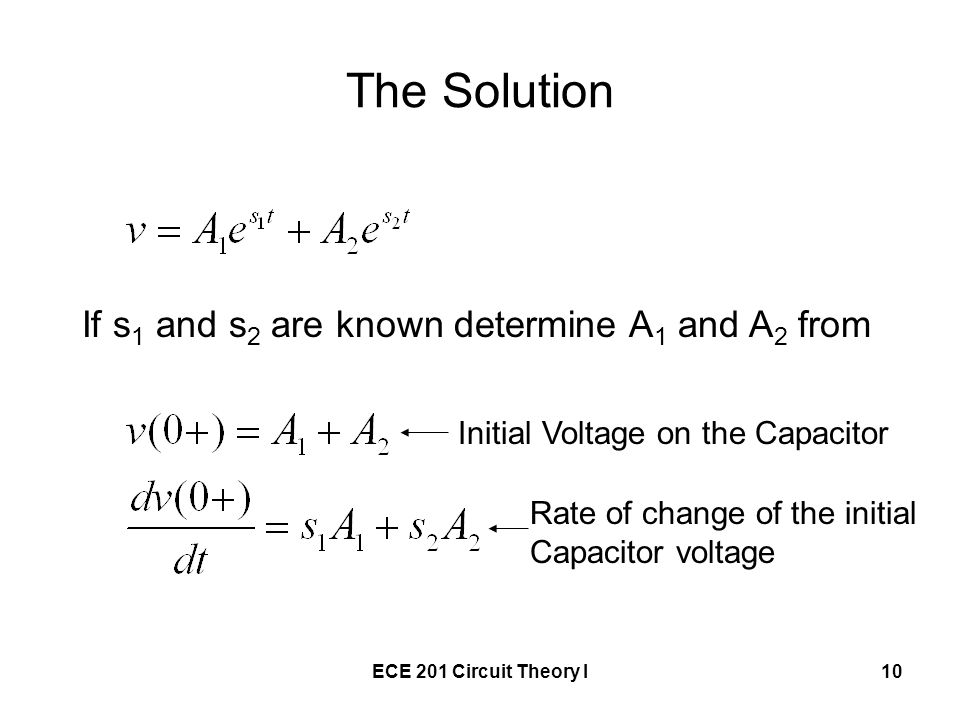 The Solution If s1 and s2 are known determine A1 and A2 from