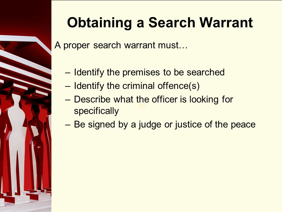 Obtaining a Search Warrant