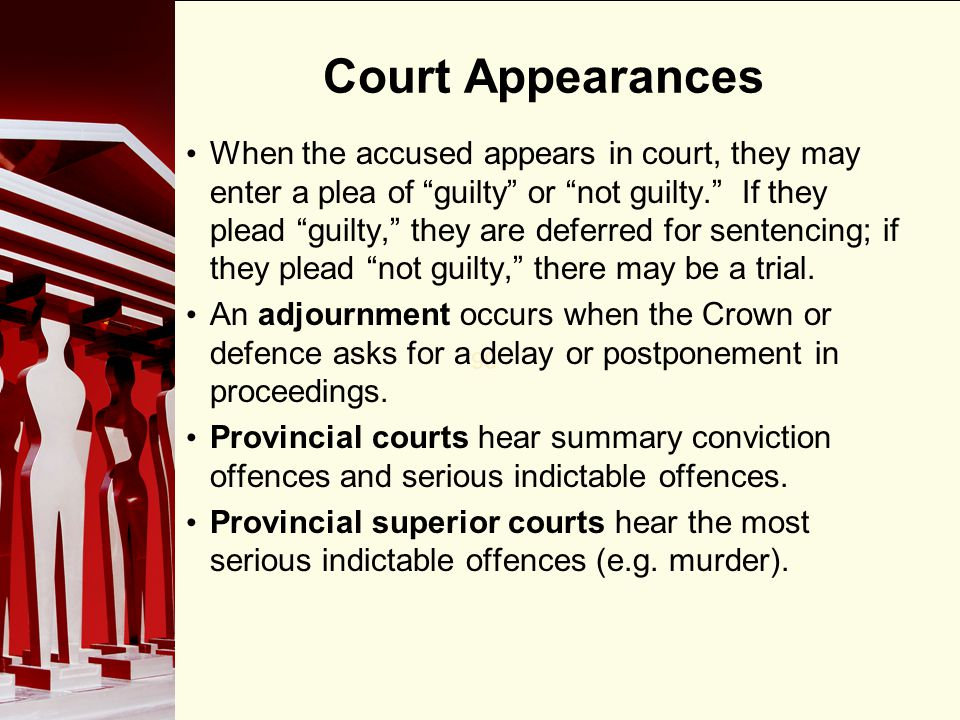 Court Appearances