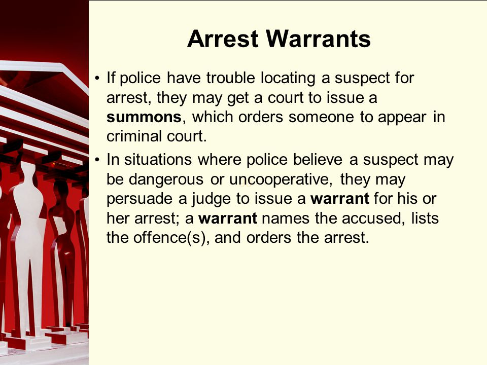 Arrest Warrants