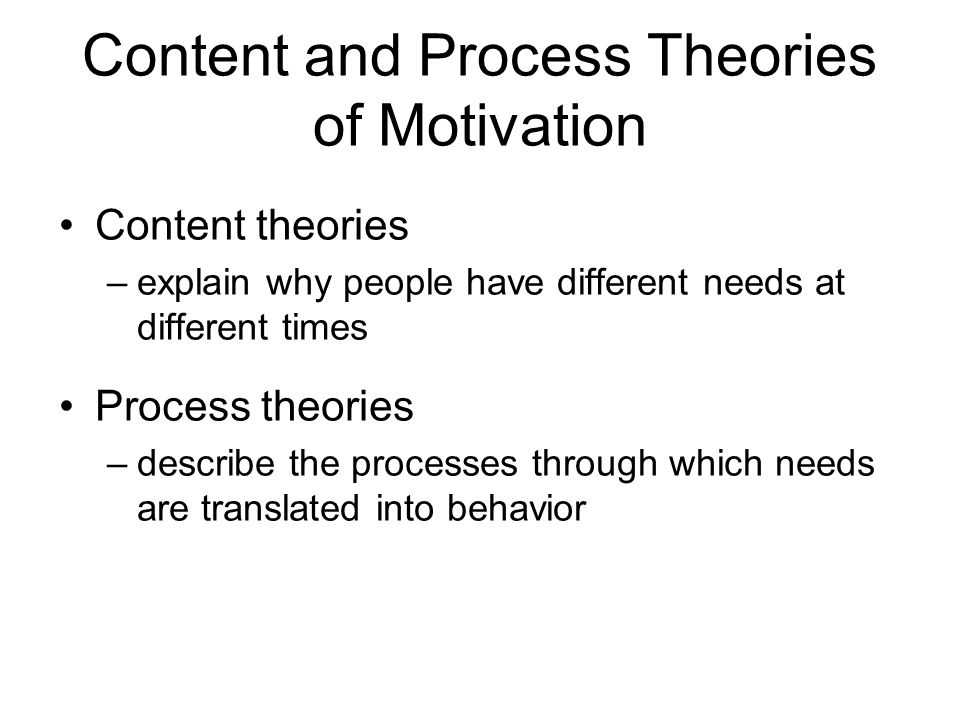 2 process theories of motivation