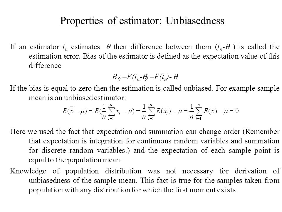 Point estimation, interval estimation - ppt download