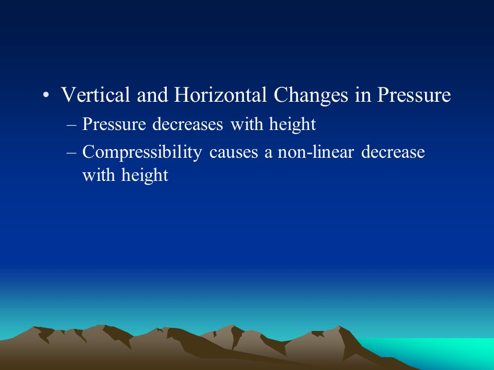 Vertical and Horizontal Changes in Pressure