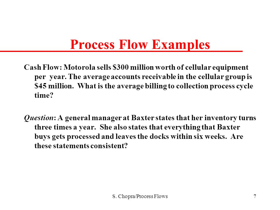 S. Chopra/Process Flows
