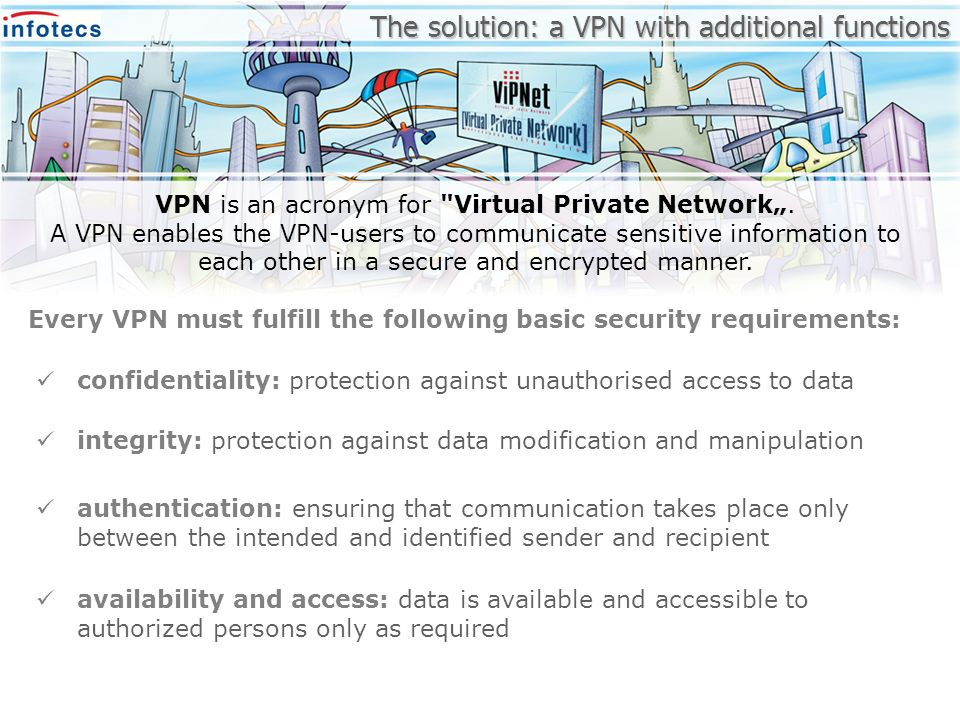 The solution: a VPN with additional functions