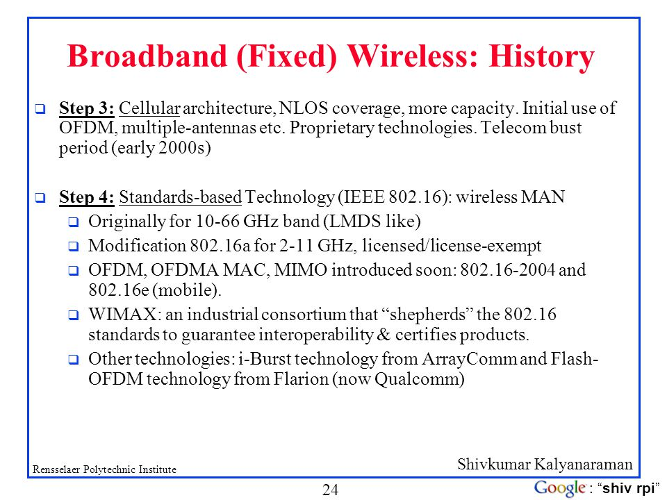 Wireless History Timeline