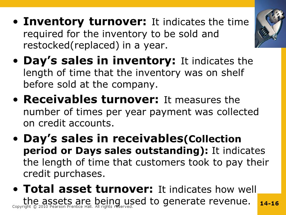 inventory turnover Average inventory the inventory turnover measure is a ratio of flow to average inventory as such, it is somewhat of an abstract concept days of supply is another, more.