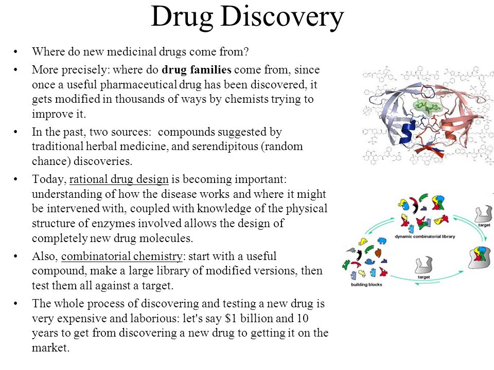 Drug Discovery Where do new medicinal drugs come from