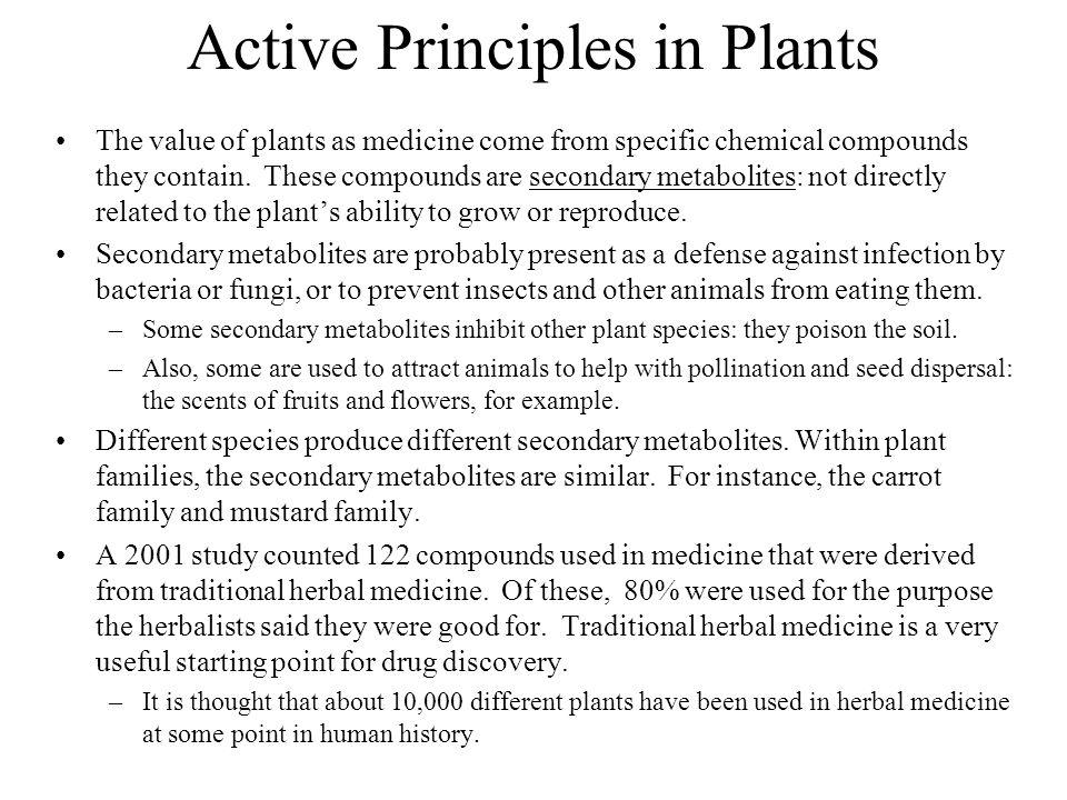 Active Principles in Plants