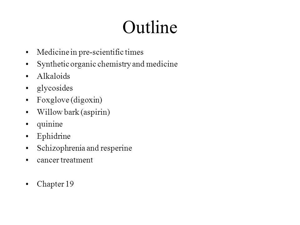 Outline Medicine in pre-scientific times