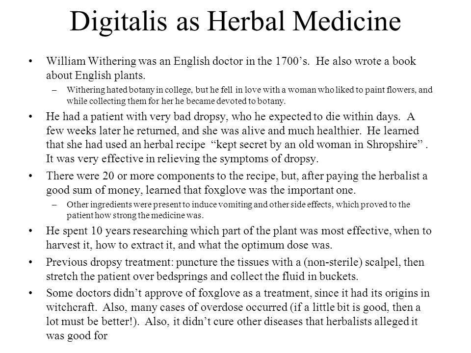 Digitalis as Herbal Medicine