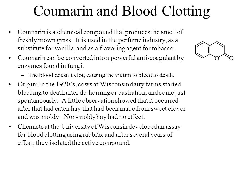 Coumarin and Blood Clotting