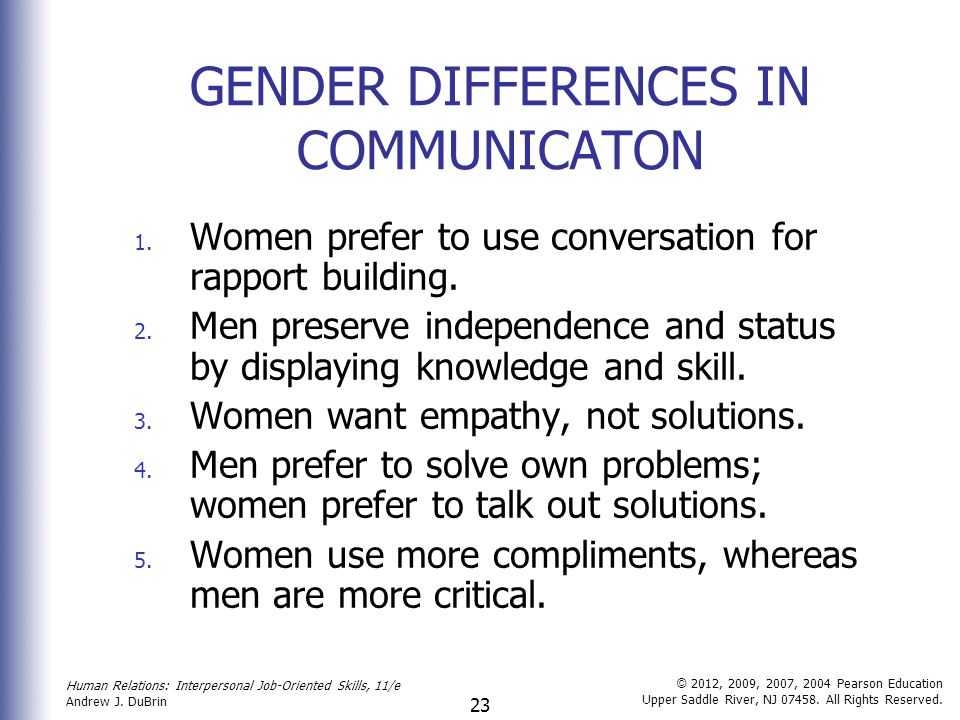 essays on gender differences in communication
